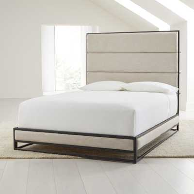 Oxford Ivory Upholstered Queen Bed - Crate and Barrel
