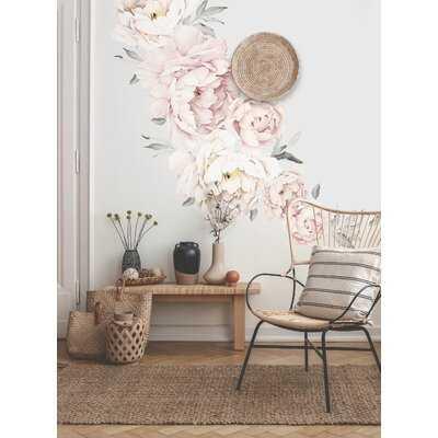 Peony Flowers Wall Decal - Wayfair