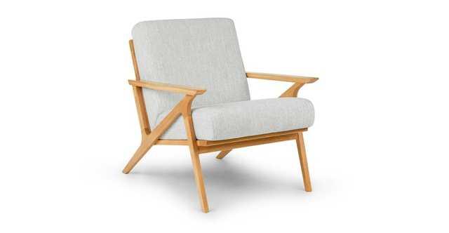 Otio Mist Gray Oak Lounge Chair - Article