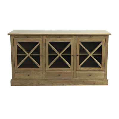 Belgard Cabinet - Flemish Oak - Ballard Designs