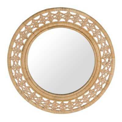 Round Rattan Braided Decorative Accent Mirror - Wayfair