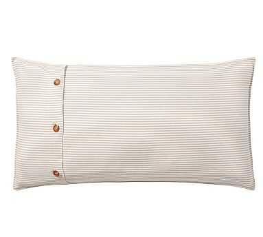 Wheaton Stripe Sham, King, Flax - Pottery Barn