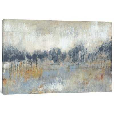 'Cool Grey Horizon II' Painting Print on Canvas - Wayfair