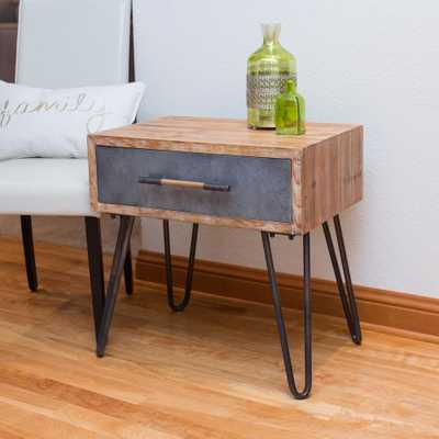 Vaughn Galvanized Metal Hairpin Table, Weathered Brown & Galvanized Metal - Home Depot