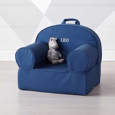 Large Navy Nod Chair - Crate and Barrel
