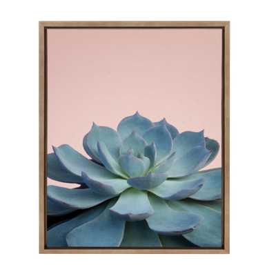 """Sylvie """"Succulent 10"""" by F2Images Framed Canvas Wall Art, Gold - Home Depot"""