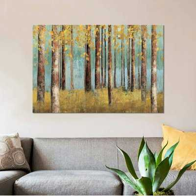'Teal Birch' Print on Canvas - Wayfair