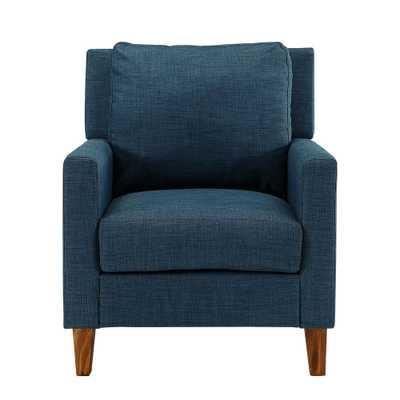 Blue Pillow Back Accent Chair - Home Depot