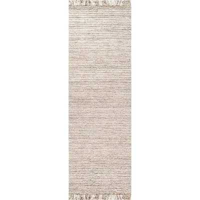 Nilles Hand-Woven Wool Silver Area Rug - Birch Lane