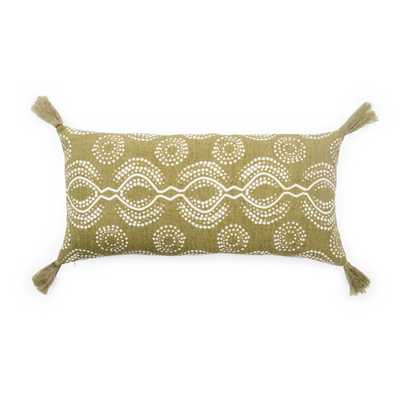 "Design (US) Green 10""X21"" Pillow - Collective Weavers"