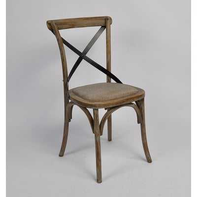 Malmberg Cross Back Upholstered Dining Chair - Wayfair