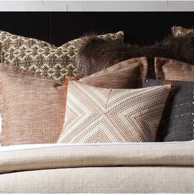 Bighorn Mitered Geometric Square Accent Pillow In Rust - Wayfair