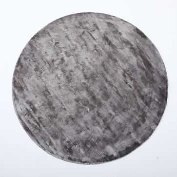 Lucent Rug, Pewter, 6' Round - West Elm