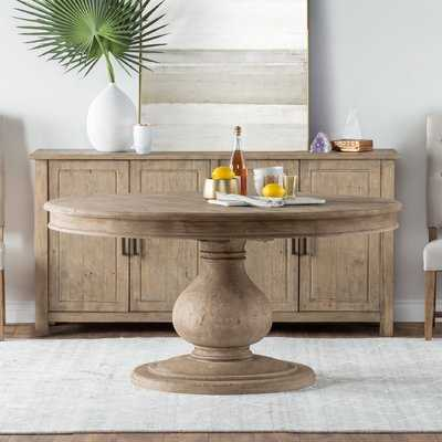 One Allium Way Orear Pine Dining Table - Wayfair
