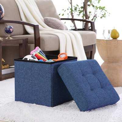 Lambertville Foldable Tufted Square Cube Foot Rest Storage Ottoman - Wayfair