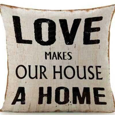 Brien Love Makes Home Pillow - Wayfair