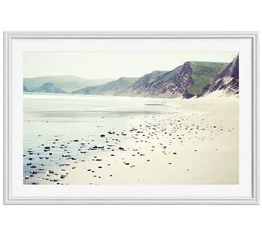 "Pebbly Beach Framed Print by Lupen Grainne, 28x42"", Ridged Distressed Frame, White, Mat - Pottery Barn"