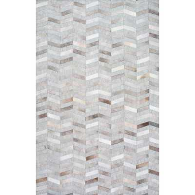 Cowhide Mitch Silver 5 ft. x 8 ft. Area Rug - Home Depot