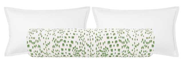 """The Bolster :: Les Touches // Green - QUEEN // 9"""" X 36"""" - Little Design Company"""