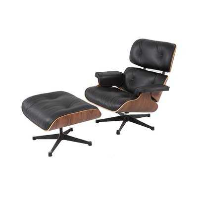 Emilio Swivel Lounge Chair and Ottoman - Wayfair