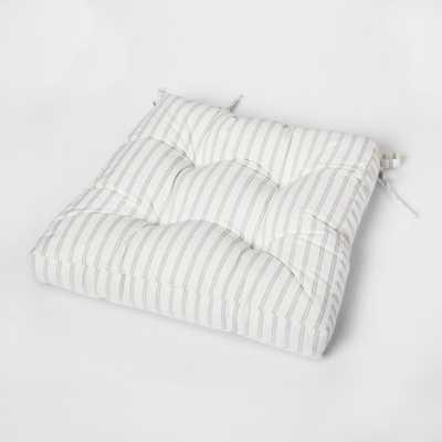 Stripe Square Chairpad Cream (Ivory) - Threshold - Target