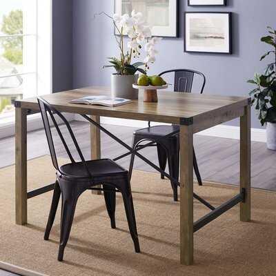 """Quayle 48"""" Industrial Farmhouse Dining Table - Wayfair"""