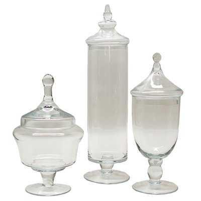 Kemper 3 Piece Apothecary Jar Set - Wayfair
