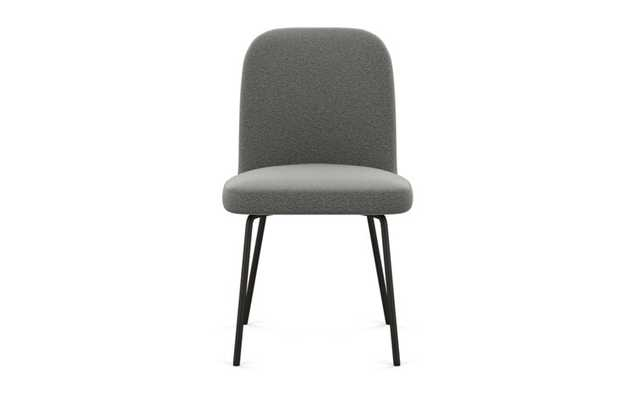 Dylan Dining Chair with Heather Fabric and Matte Black legs - Interior Define