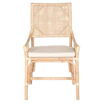 Dining Chair Wood/Brown/White - Safavieh - Target