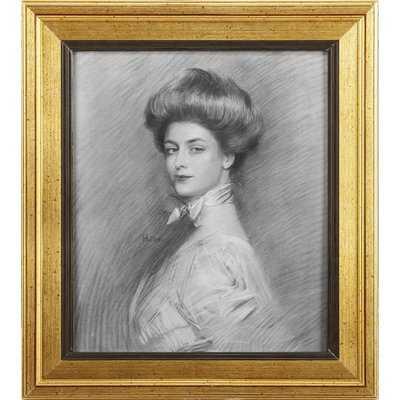 'Portrait of Charlotte' Framed Graphic Art Print on Wood - Wayfair