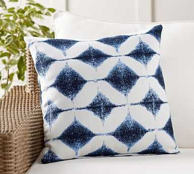 "Sunbrella(R) Shelton Jacquard Indoor/Outdoor Pillow, 20"", Blue Combo - Pottery Barn"