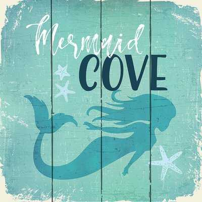 'Mermaid Cove' Graphic Art Print on Wood - Wayfair