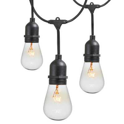 48 ft. 11-Watt Outdoor Weatherproof String Light with S14 Incandescent Light Bulbs Included - Home Depot