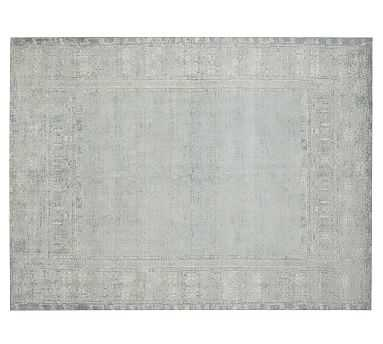 Kailee Printed Wool Rug, 5x8', Porcelain Blue - Pottery Barn