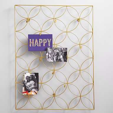 Floral Wire Photo Grid, Gold - Pottery Barn Teen