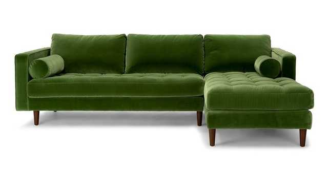 Sven Grass Green Right Sectional Sofa - Article