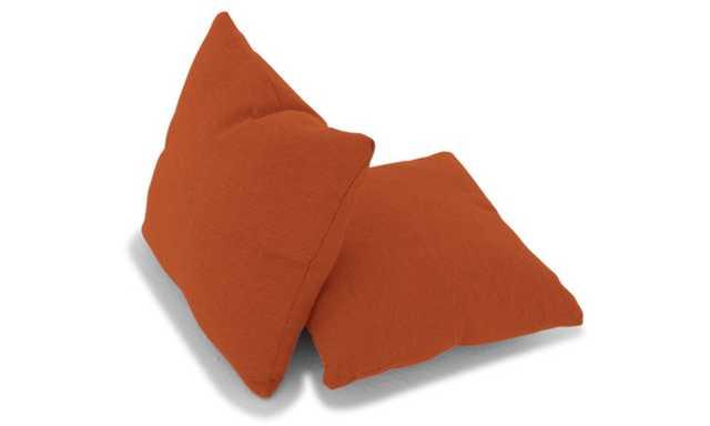 Orange Decorative Mid Century Modern Knife Edge Pillows (Set of 2) - Taylor Blazer - Joybird