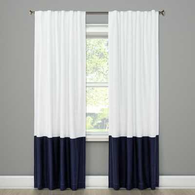 Blackout Curtain Panel Color Block Blue 84 - Project 62, Oxford Blue - Target