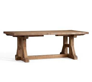 """Stafford Reclaimed Pine Extending Dining Table, 86"""" - 110"""" L - Pottery Barn"""