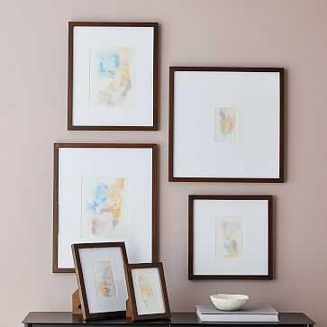 Gallery Frames, Dark Walnut, Set of 4, Assorted Sizes - West Elm