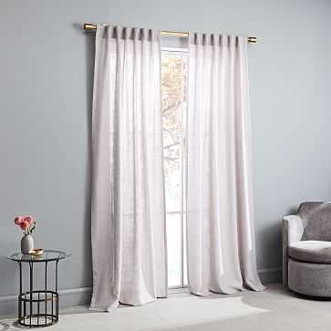 "Crossweave Curtain, Dusty Blush, 48""x96"" - West Elm"