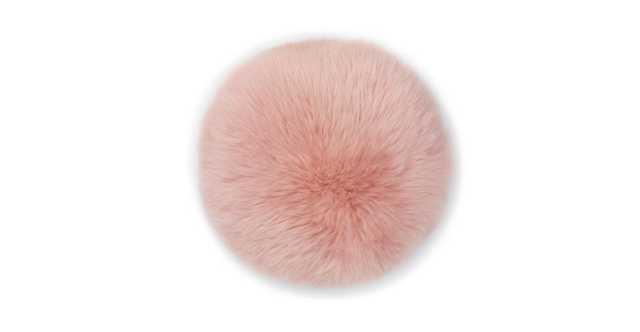 Lanna Pink Round Sheepskin Pillow - Article