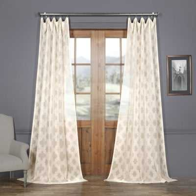 Jaworski Geometric Sheer Tab Top Single Curtain Panel - AllModern