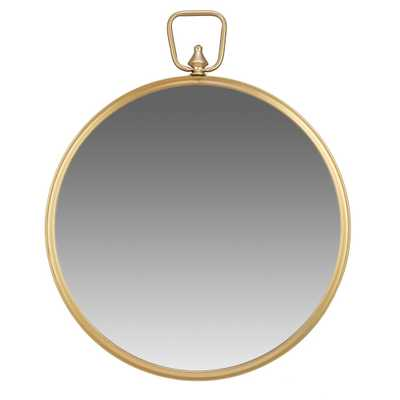 22 Wall Mirror with Decorative Handle Gold - Patton Wall Decor - Target