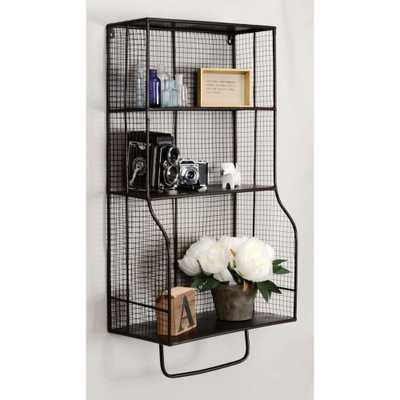 Distressed Wall Storage Organizer, Black - Home Depot