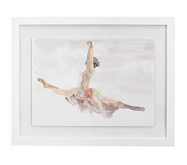 Ballet Grand Jete Framed Artwork, 24x19 - Pottery Barn Kids