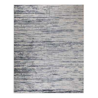 McLoud High-Low Pile Blue Area Rug - Wayfair