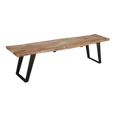 Odette Wood Bench - Wayfair