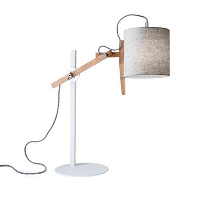 Adesso Keaton 28 in. White Wood Table Lamp - Home Depot