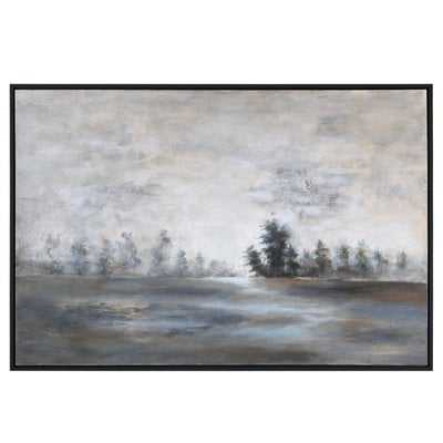 'Evening Mist Landscape' Picture Frame Painting on Canvas - Birch Lane